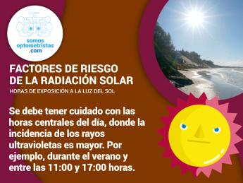 Factores de riesgo de la radiación solar